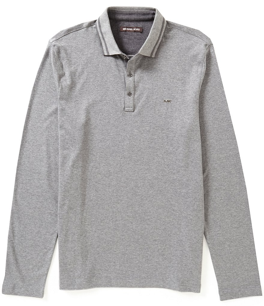 Michael Kors Double Collar Long-Sleeve Polo Shirt