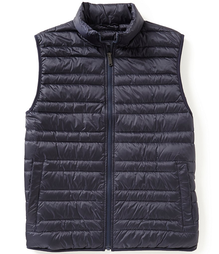 Michael Kors Channel Down Full-Zip Quilted Vest