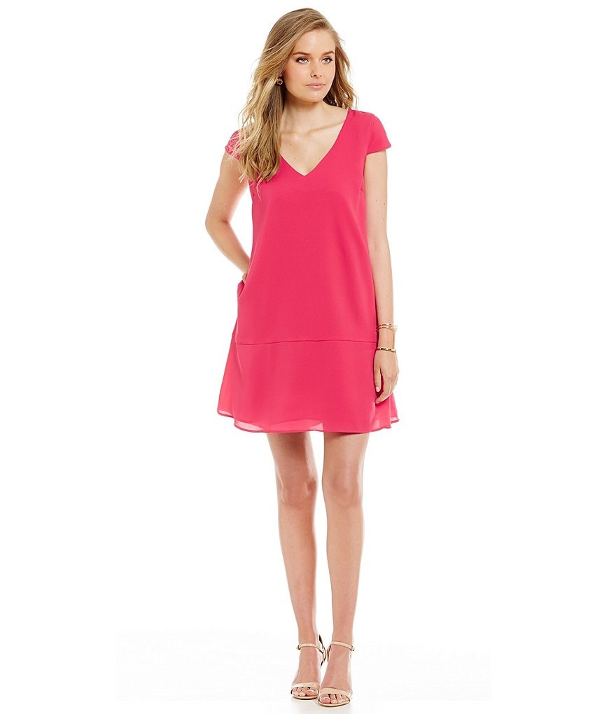 Cremieux Helen V-Neck Dress