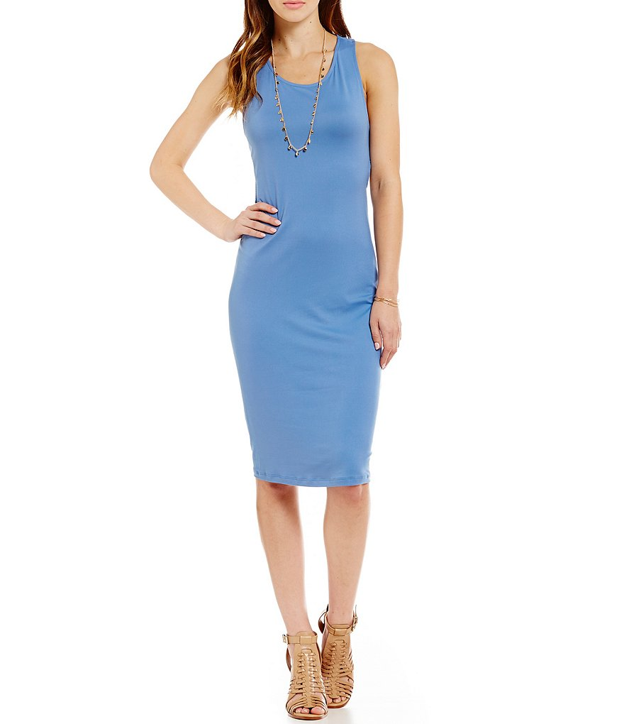 GB Cut Out Detail Midi Sheath Dress