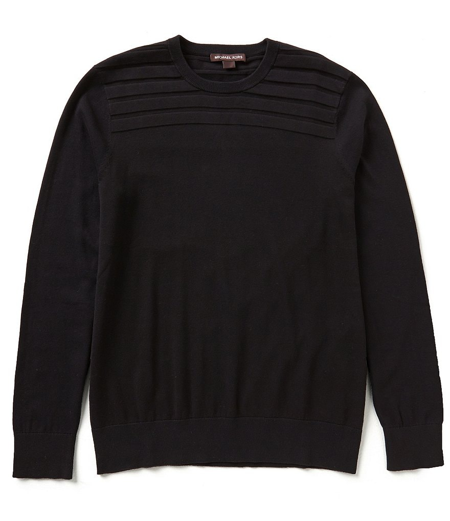 Michael Kors Ribbed Cotton Crew Neck Sweater