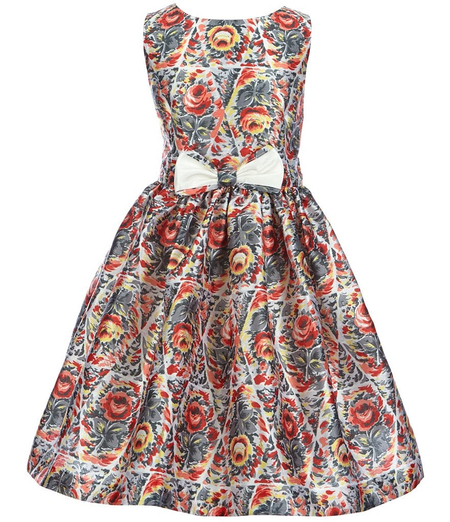 Pippa & Julie Little Girls 2T-6X Floral-Print Fit-and-Flare Dress