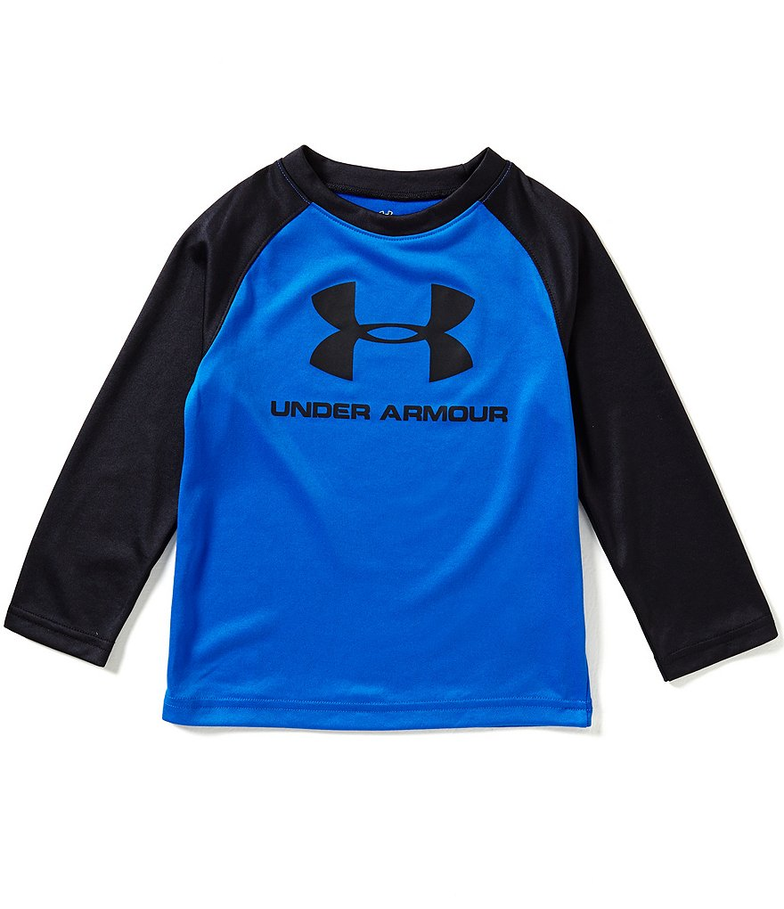 Under Armour Little Boys 2T-7 Core Branded Long Sleeve Raglan Tee
