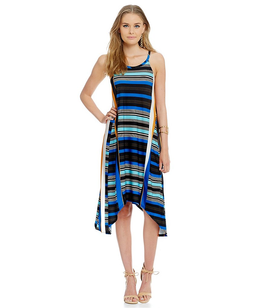 Gianni Bini Skyler Striped A-Line Dress