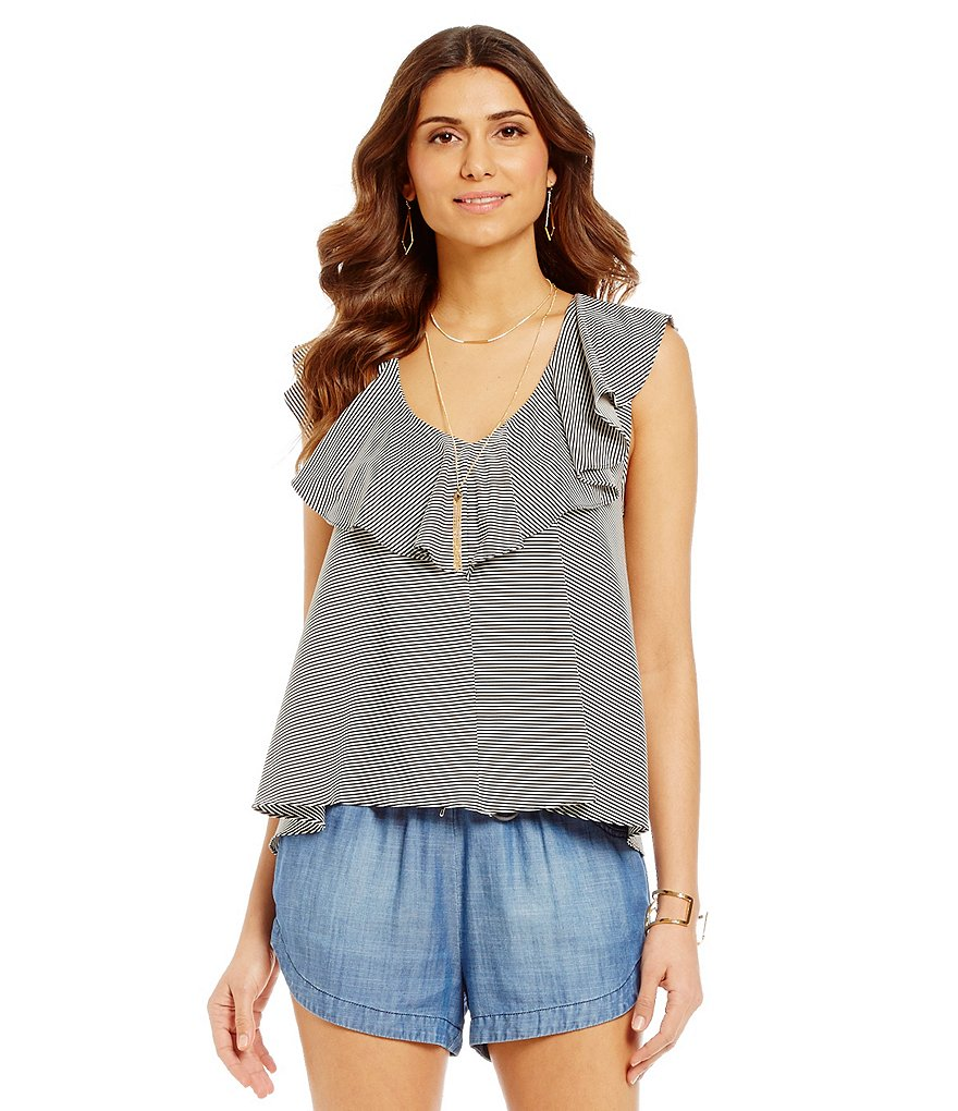 Gianni Bini Brenna Ruffle Knit Top