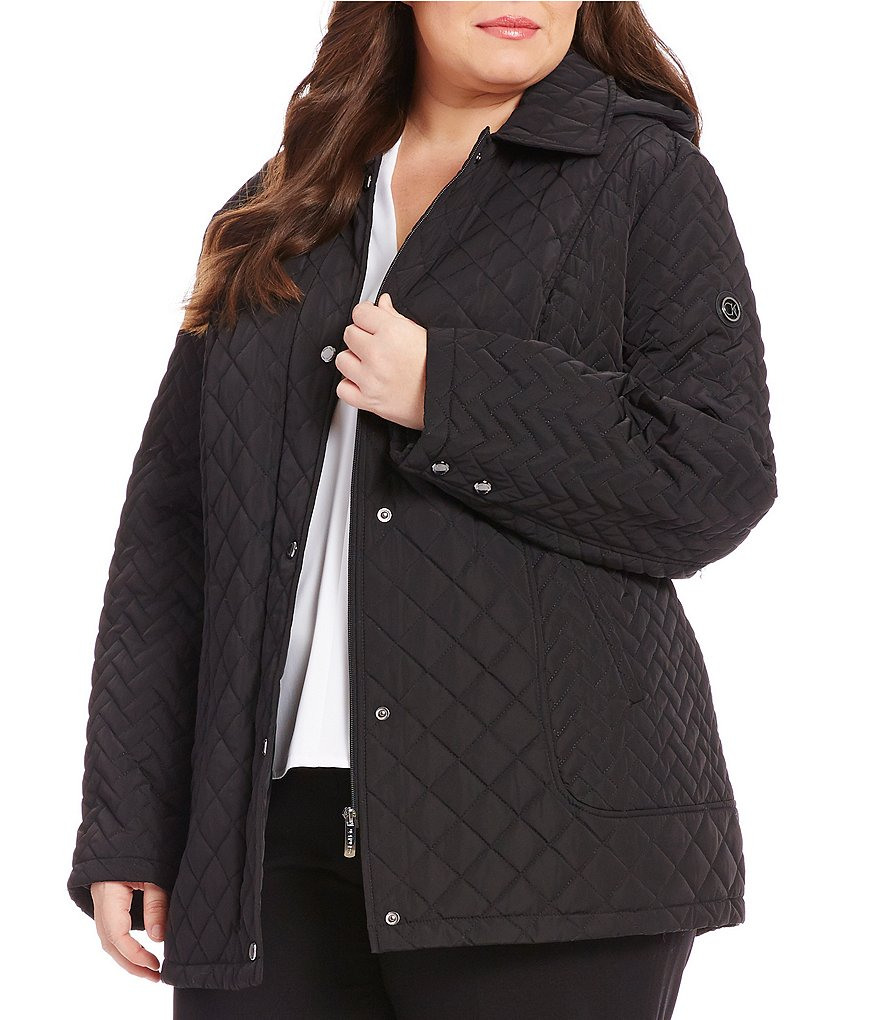 Calvin Klein Plus Short Quilted Coat