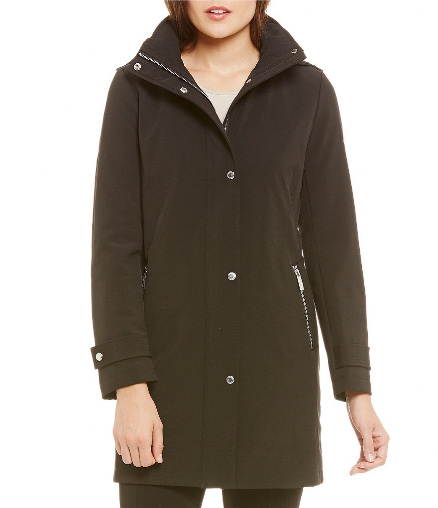 Calvin Klein Single Breasted Soft Shell Walker Coat