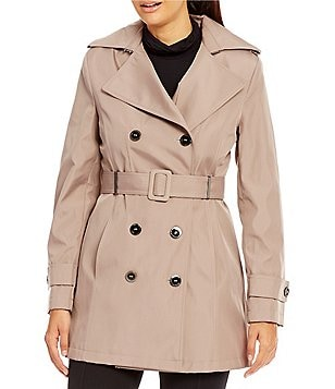 Calvin Klein Double Breasted Rain Trench Coat