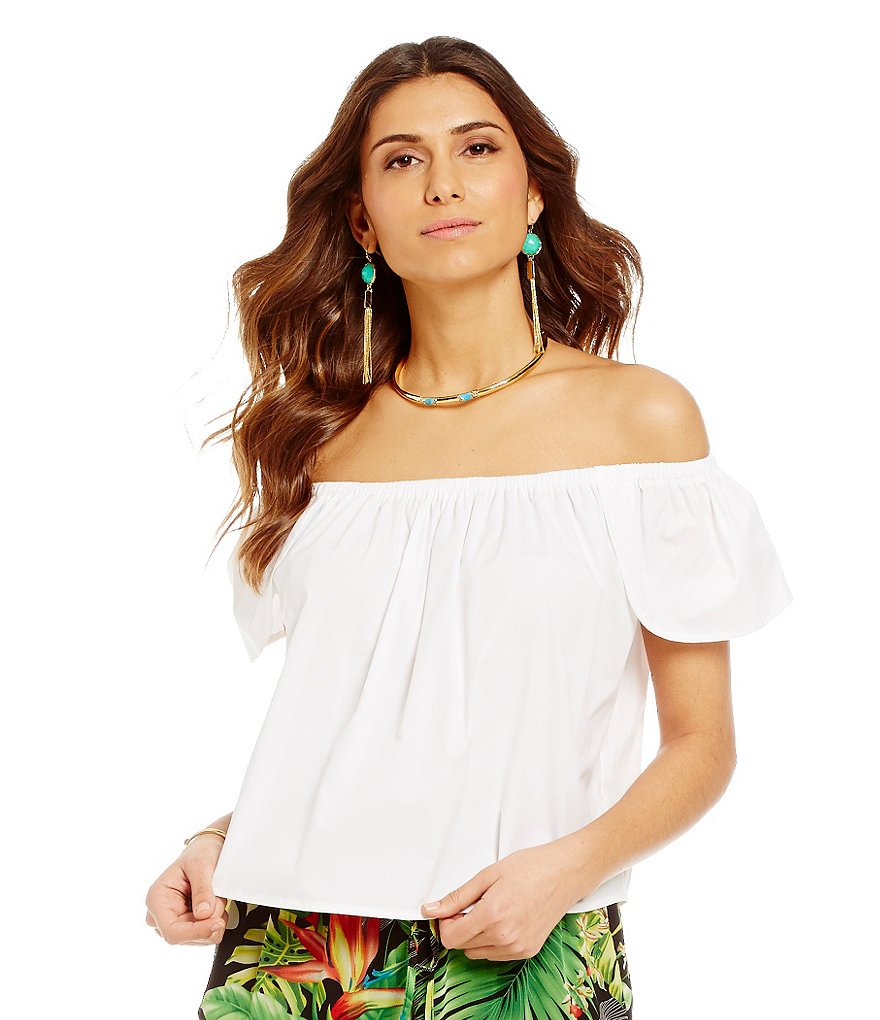 Gianni Bini Poppy Off-The-Shoulder Blouse
