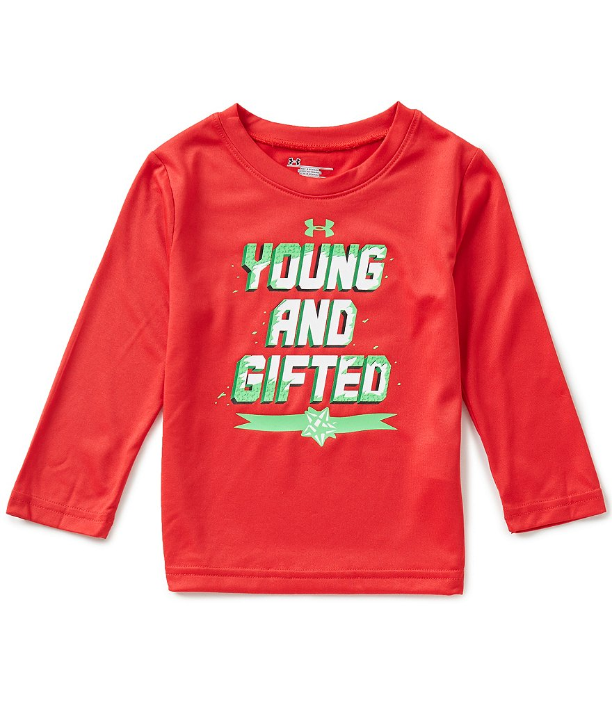 Under Armour Little Boys 2T-7 Christmas Young And Gifted Long-Sleeve Tee