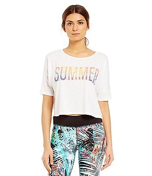 Gianni Bini Active Summer Sun Cropped Tee