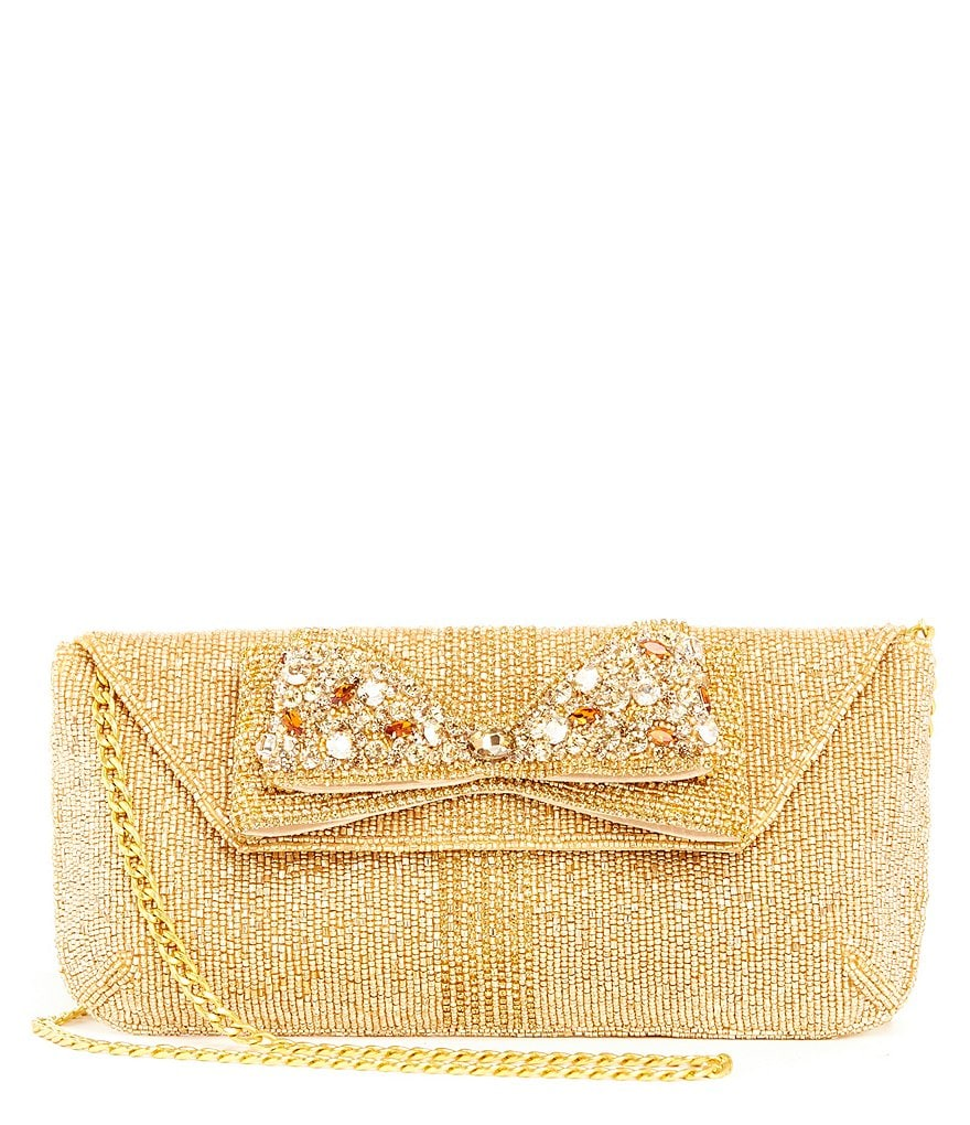 Mary Frances Beaded Bow Tie Clutch