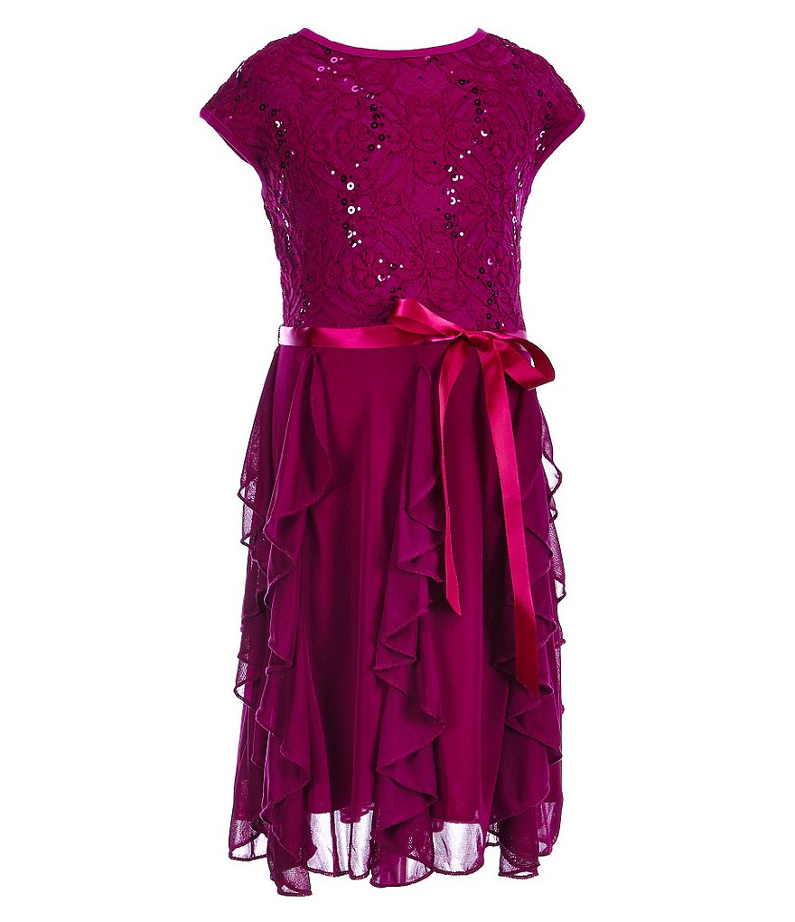 Xtraordinary Little Girls 4-6X Sequin Cascade Dress
