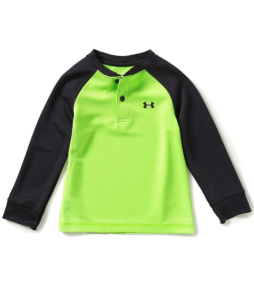 Under Armour Little Boys 2T-7 Color Block Waffle-Knit/Jersey Henley Tee