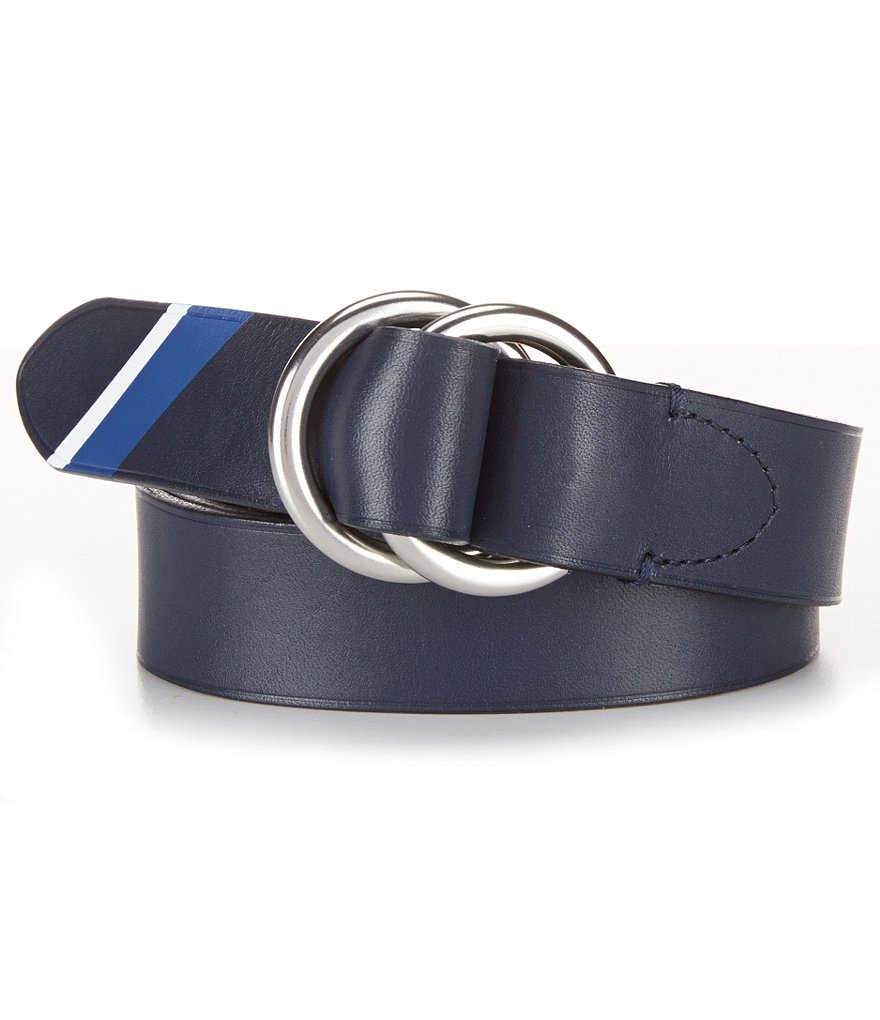 Polo Ralph Lauren Painted Stripe Leather Belt