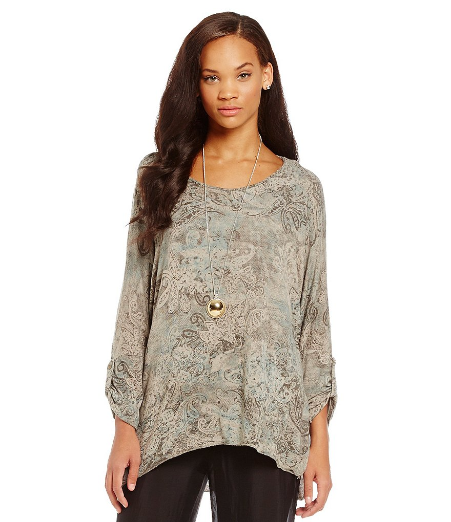 M Made In Italy Paisley Print Tunic