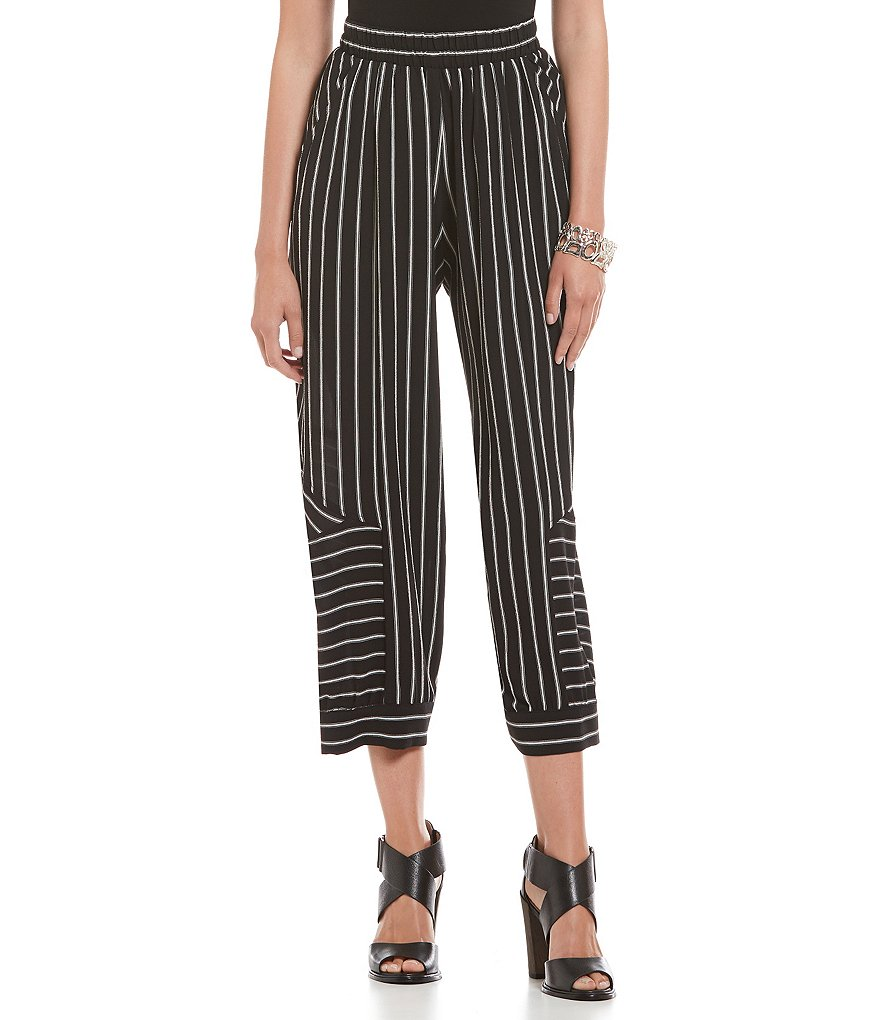 IC Collection Striped Cropped Pants
