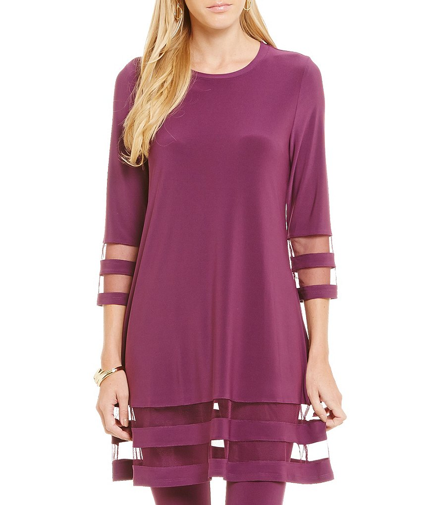 IC Collection Mesh Hem Tunic