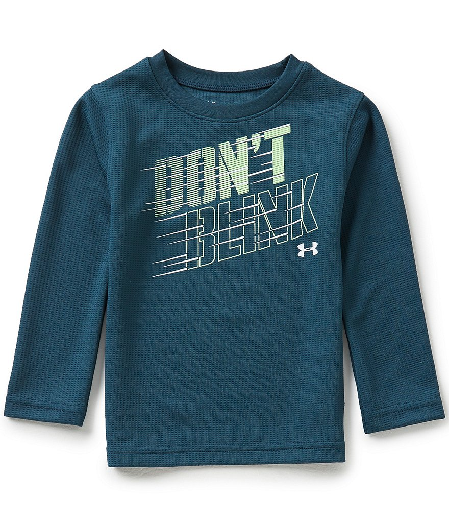 Under Armour Little Boys 2T-7 Don´t Blink Long-Sleeve Waffle-Knit Tee