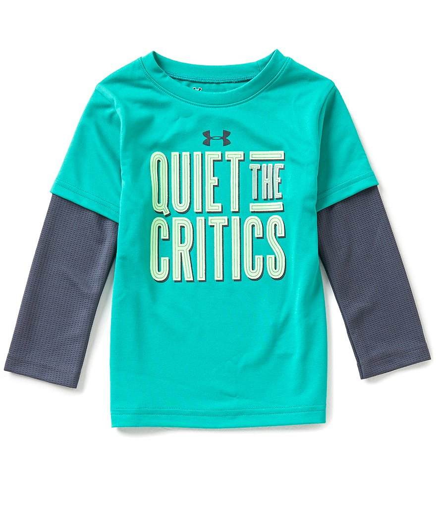 Under Armour Little Boys 2T-7 Quiet The Critics Color Block Slider Tee