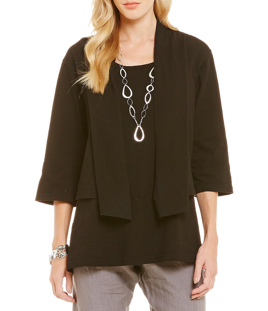 Bryn Walker Jane 3/4 Sleeve Open Front Cardigan