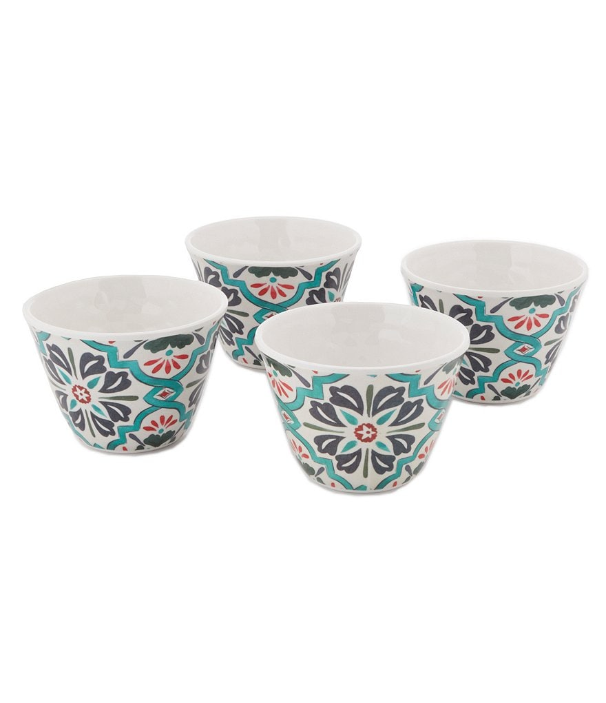 Southern Living Medallion Melamine Dip Bowls, Set of 4