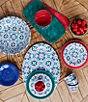 Color:Multi - Image 2 - Southern Living Medallion Melamine Dip Bowls, Set of 4