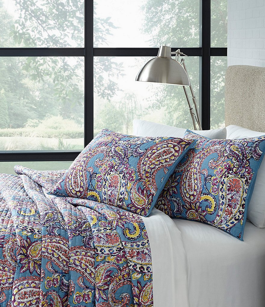 Studio D Back to Campus Duffy Paisley Quilt Mini Set with Mesh Laundry Hamper