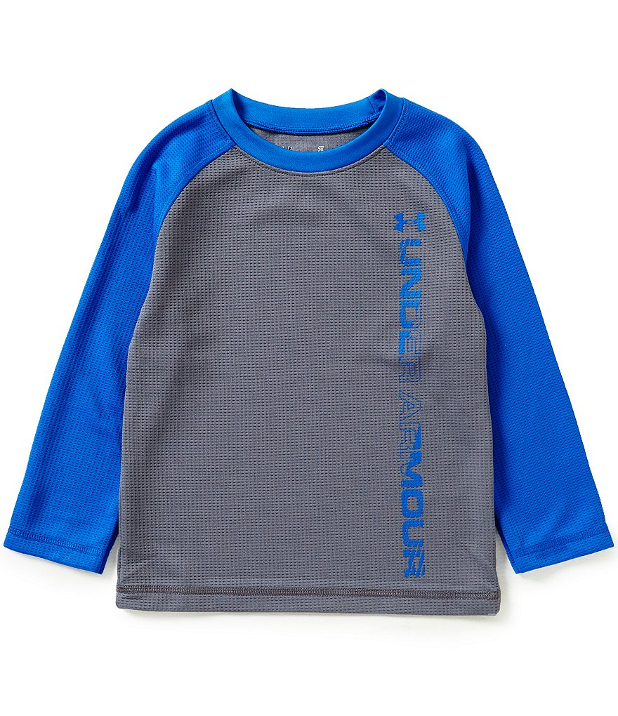Under Armour Little Boys 2T-7 Waffle-Knit Raglan-Sleeve Tee