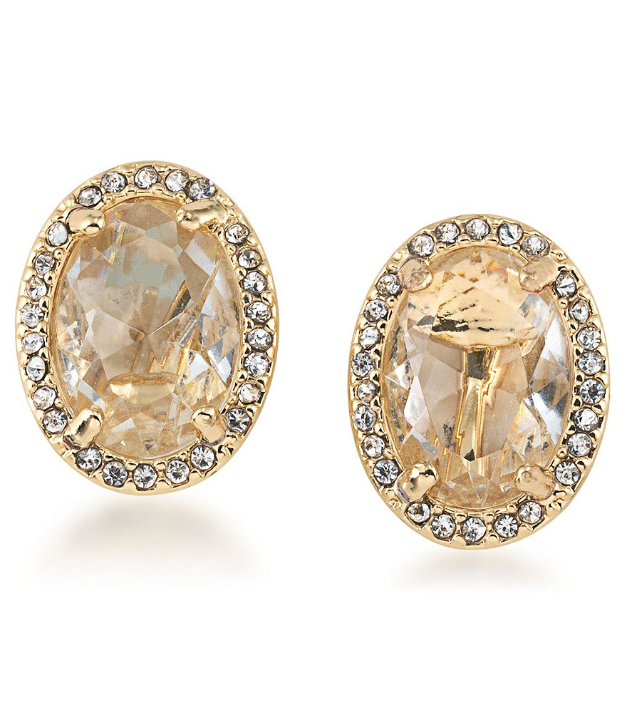 Carolee Columbus Circle Button Clip-On Earrings