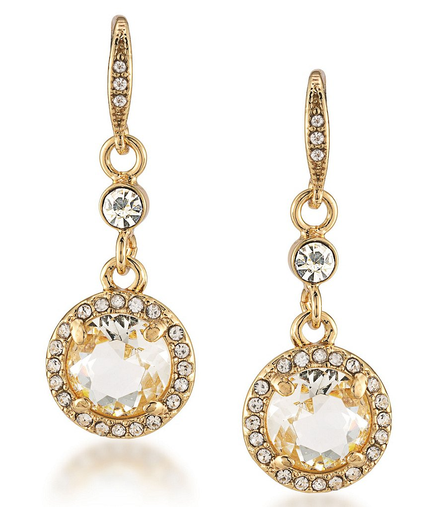 Carolee Columbus Circle Round Drop Earrings