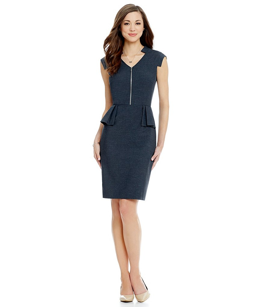 Antonio Melani Playing Favorites Emma V-Neck Peplum Dress