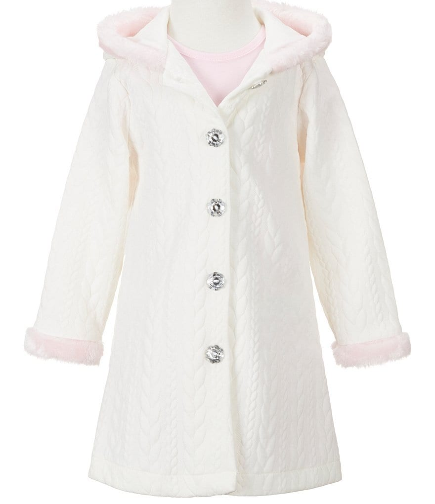 Sweet Heart Rose Little Girls 2T-6X Faux-Fur Dress & Jacket Set