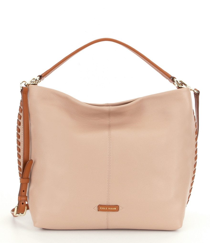 Cole Haan Addey Double-Strap Leather Hobo Bag