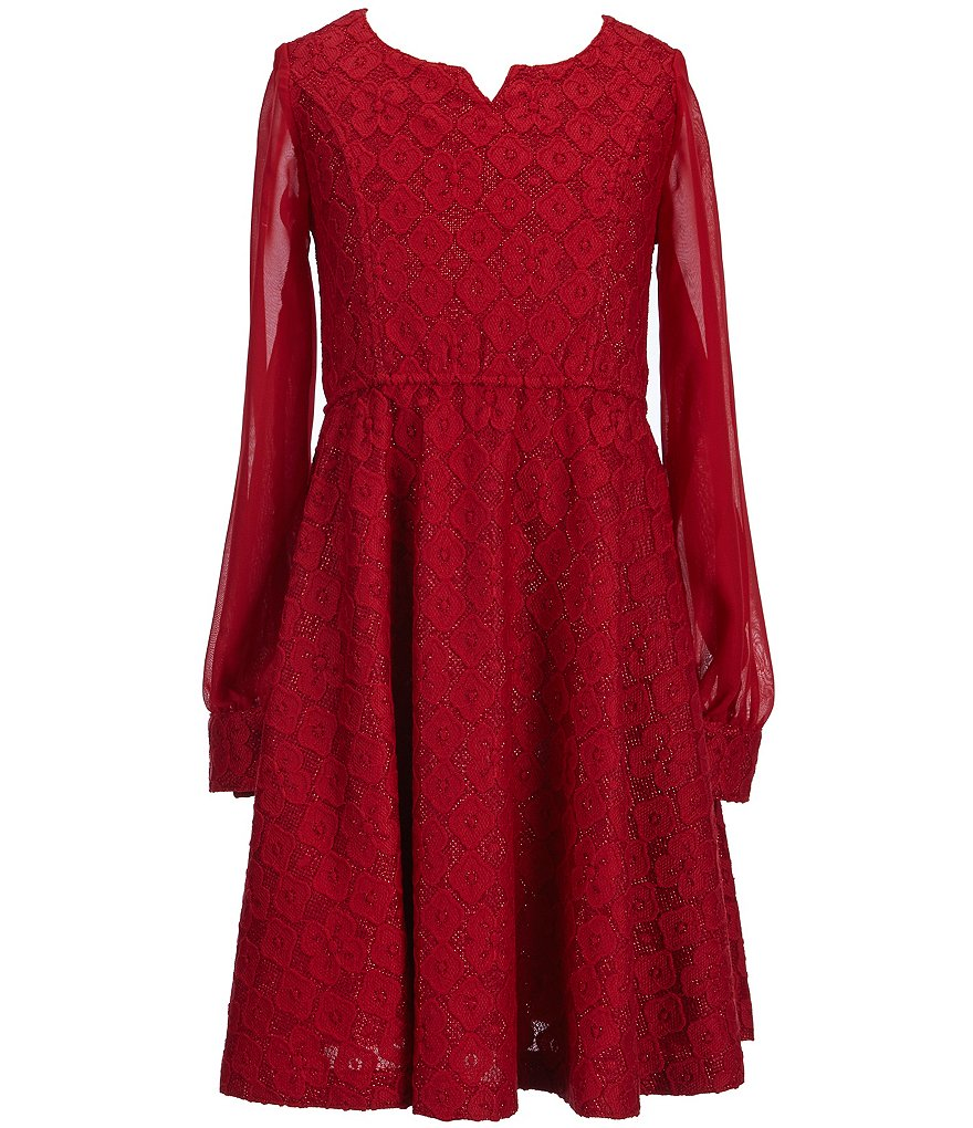 Bonnie Jean Little Girls 4-6X Metallic Lace Dress