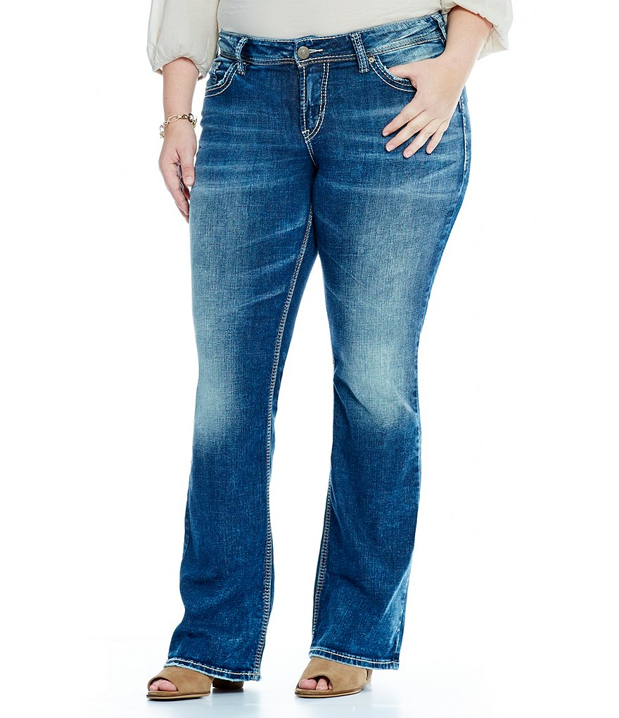 Silver Jeans Co. Plus Suki Mid Bootcut Jeans