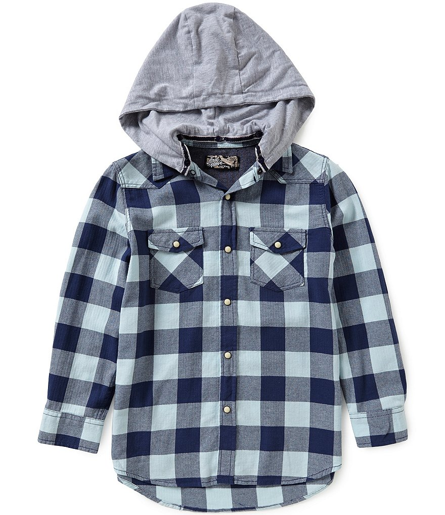 First Wave Big Boys 8-20 Hooded Woven Shirt