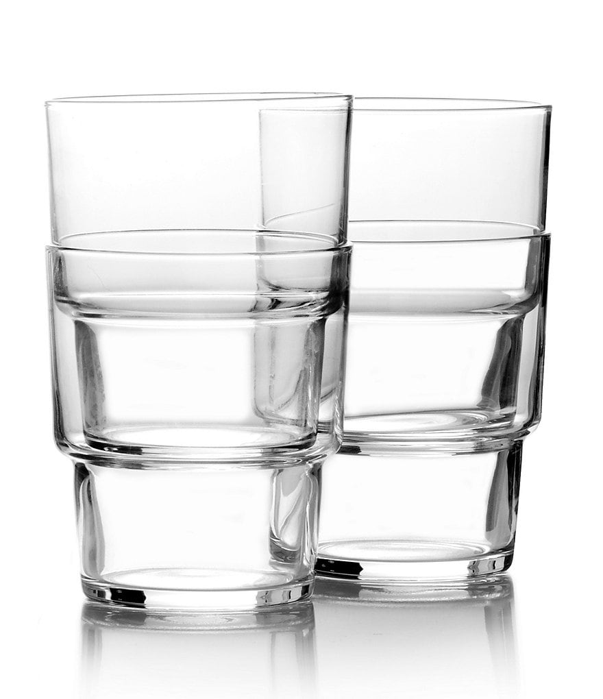 Mikasa drink4 Stackable Double Old Fashioned Glasses, Set of 4