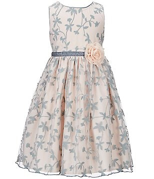 Laura Ashley London Little Girls 2T-6X Floral Overlay Dress