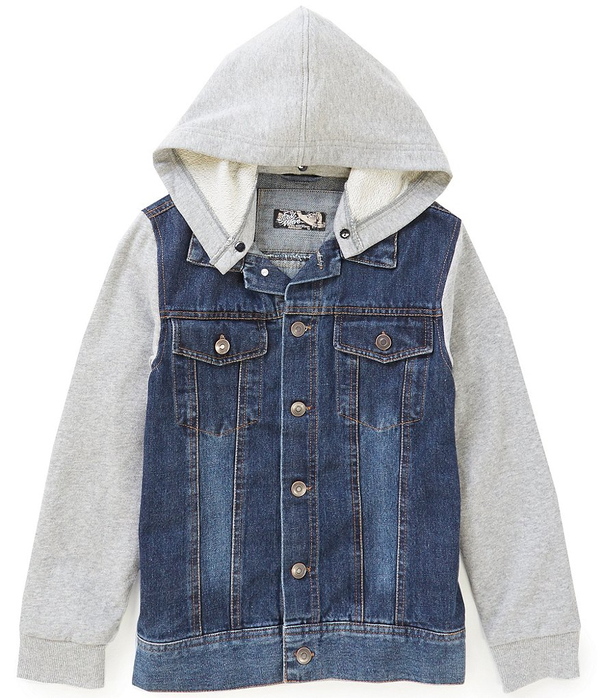 First Wave Big Boys 8-20 Hooded Denim Jacket