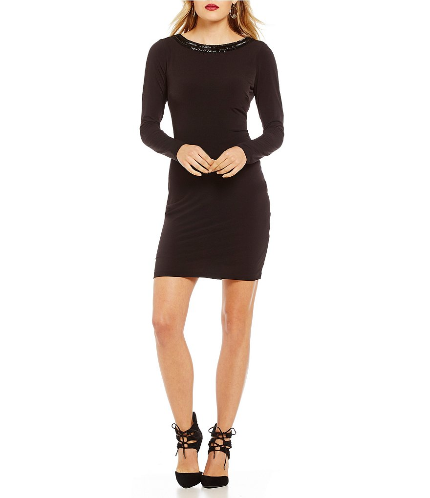 Jessica Simpson Beaded V-Back Dress