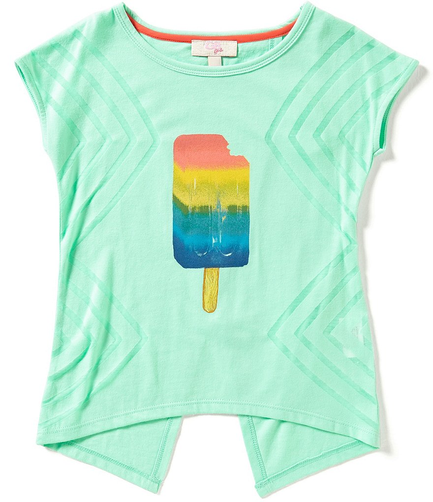 GB Girls Little Girls 4-6X Burnout Popsicle Tee