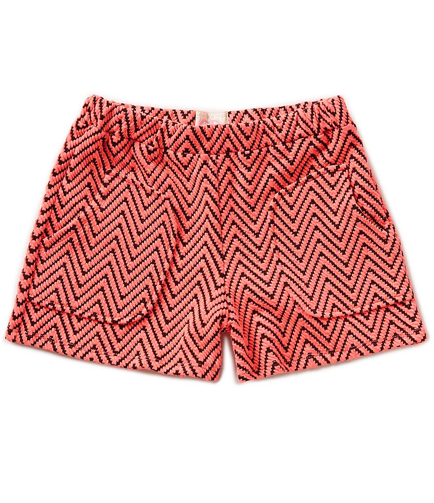 GB Girls Little Girls 4-6X Double-Knit Chevron Shorts