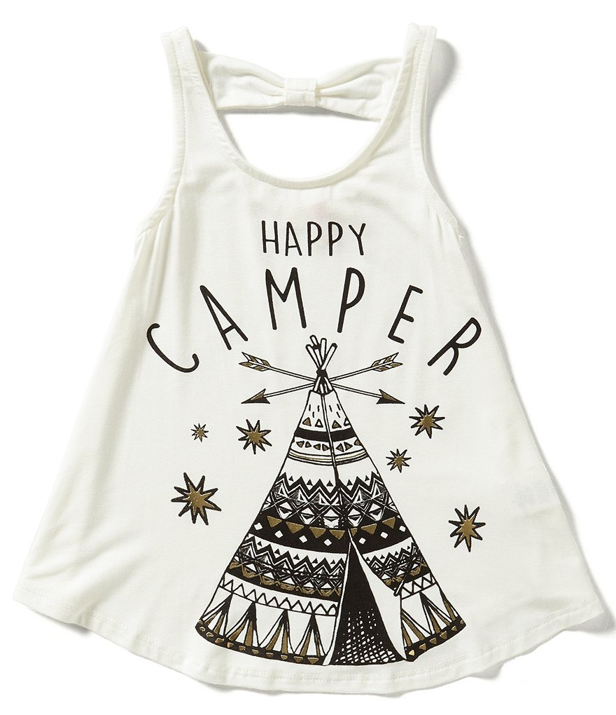 GB Girls Little Girls 4-6X Happy Camper Tank
