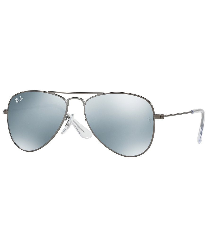 Ray-Ban Jr. Mirrored Aviator Sunglasses