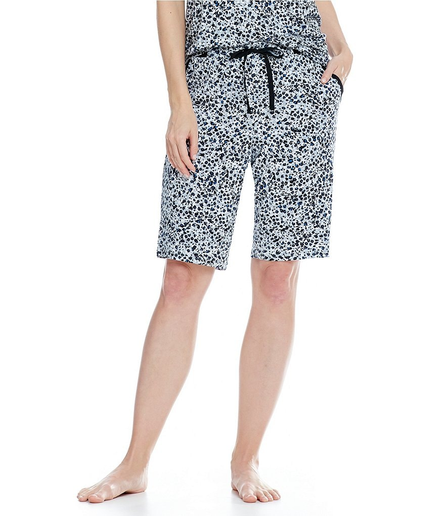 DKNY Jersey Knit Animal Printed Bermuda Sleep Shorts