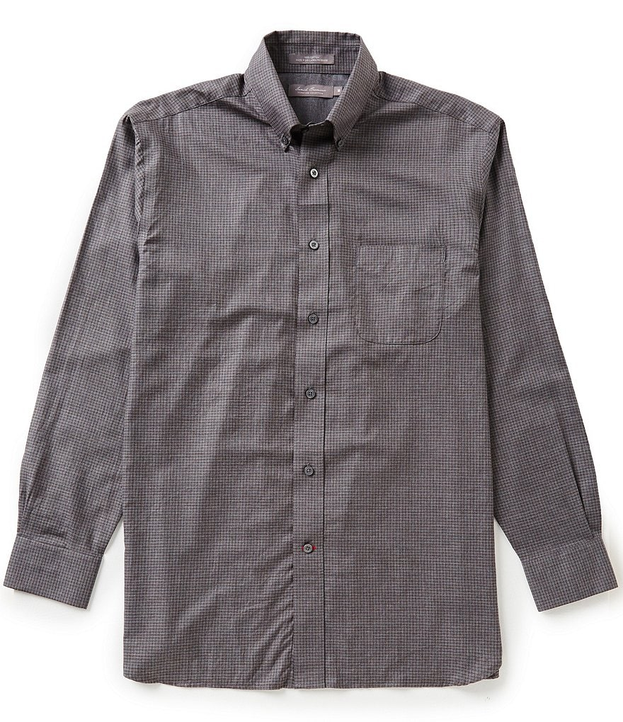 Daniel Cremieux Signature Long-Sleeve Heather Checked Woven Shirt