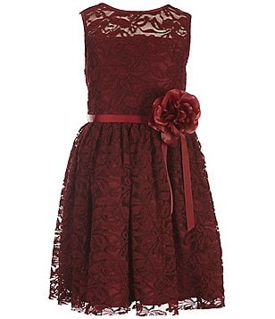 Zunie Big Girls 7-16 Lace Flower Dress