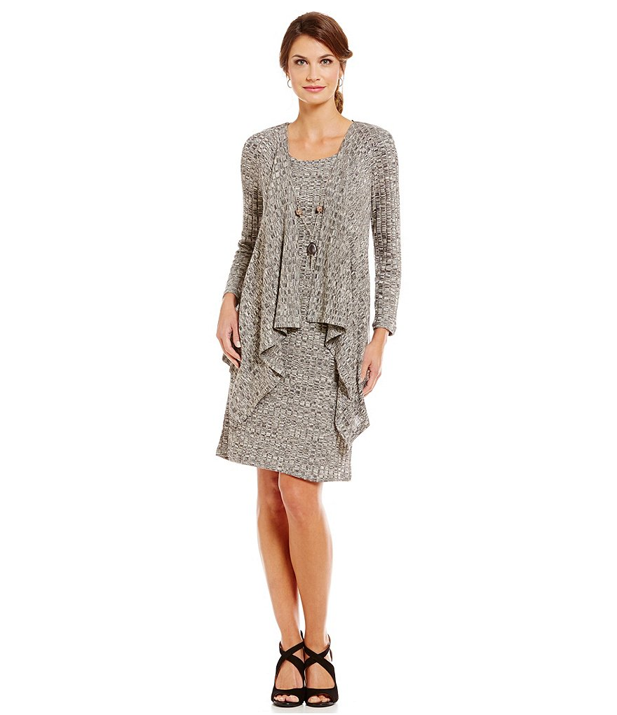 R & M Richards Mock 2-Piece Necklace Jacket Dress