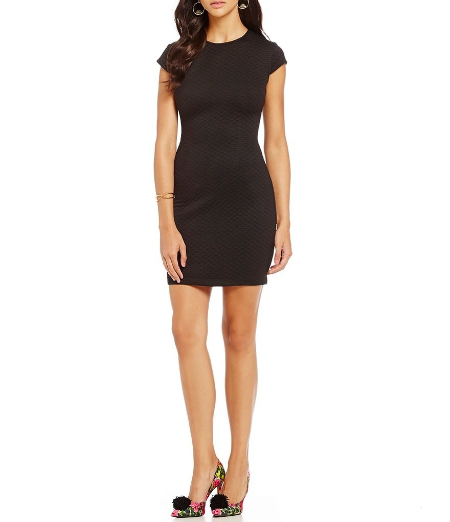 B. Darlin Quilted Textured Knit Sheath Dress
